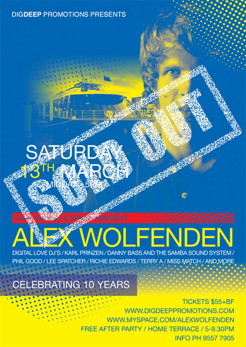 Closing Party with Alex Wolfenden